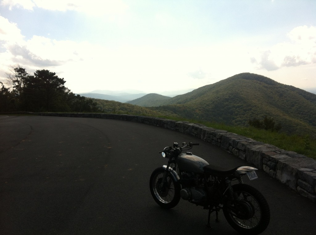 Skyline Drive on the CB550f